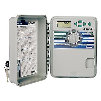Hunter X-Core 801 8-Station 230/240 VAC outdoor controller, with plastic cabinet
