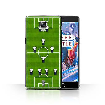 STUFF4 Case/Cover for OnePlus 3/3T/4-1-2-1-2/White/Football Formation