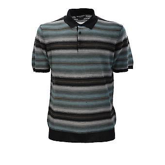 Corneliani 85m5770125132050 Men's Multicolor Linen Polo Shirt