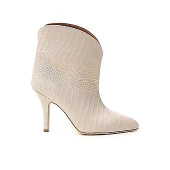 Paris Texas Px178xca025140 Women's White Leather Ankle Boots