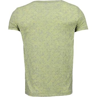 Scroll pattern Summer-T-Shirt-Yellow