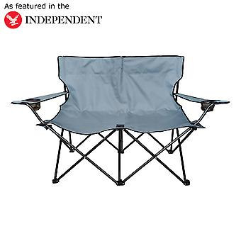 Charles Bentley Dobbelt Folding Camping Stol Love Seat Sofa Rejsestol Twin