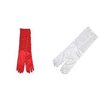 Bristol Novelty Womens/Ladies Satin Feel Theatrical Gloves (1 Pair)