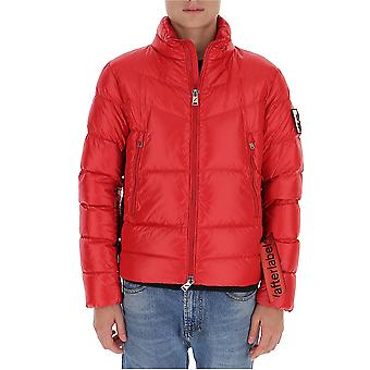 After Label Al023450 Men's Red Polyester Down Jacket