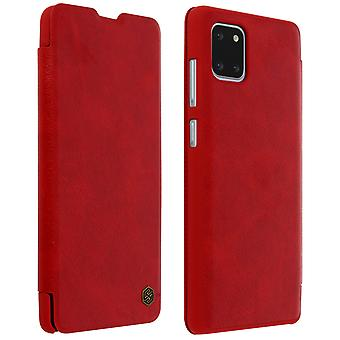 Nillkin Qin Series flip wallet case, card slot Samsung Galaxy Note 10 Lite Red