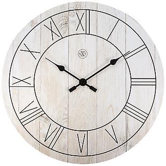 nXt- Wall clock - Ø 40 cm - Wood - White - 'Paul'