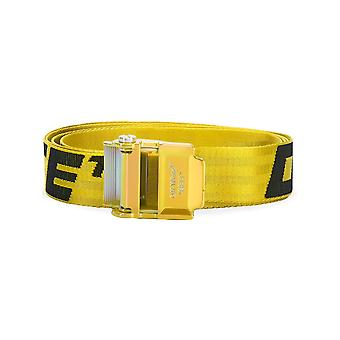 Off-white Omrb034s20f420416010 Men's Yellow Nylon Belt