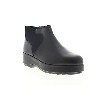 Camper Dessa  Womens Black Leather Slip On Casual Dress Boots