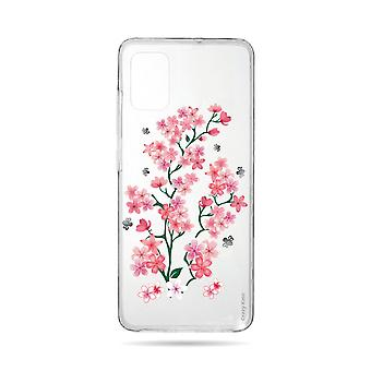 Hull For Samsung Galaxy A71 Soft Sakura Flowers