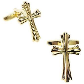 Golden cross cufflinks
