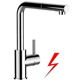 Kitchen Single-lever Sink Mixer With Extractable Shower And High Swivel Spout - 114