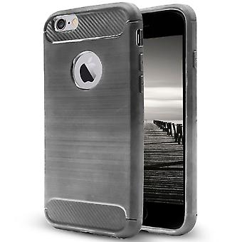 Shell Apple iPhone 6 Plus/6s Plus Grey Carbon Fiber Armor Protección de la caja