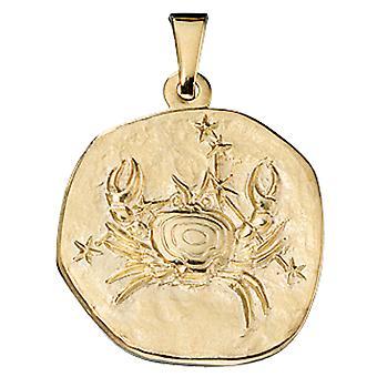 Ladies Pendant Zodiac Cancer 333 Gold Yellow Gold Zodiac Pendant