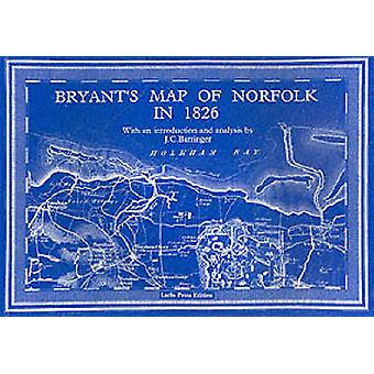 Bryants Map of Norfolk in 1826 by J C Barringer