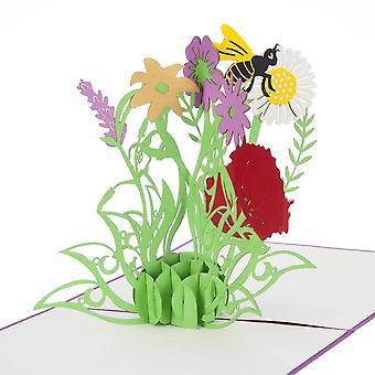 Cardology Wild Flowers Pop Up Card
