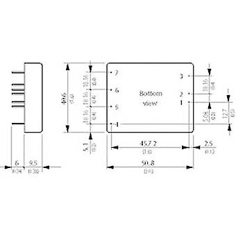 TracoPower TEN 25-2423 DC/DC Converter (Print) 24 V DC 15 V DC,-15 V DC 1 A 30 W Nee. aantal uitgangen: 2 x