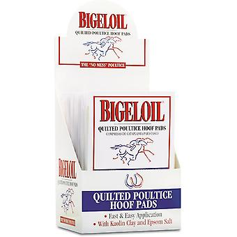 Absorbine Bigeloil Quilted Poultice Hoof Pads (Pack Of 4)