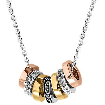 KJ Beckett Marcasite sorte anéis Zirconia cúbico Colar - ouro ouro/prata/rosa