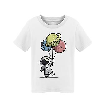 Astronaut With Planet Balloons Tee Toddler's -Image by Shutterstock