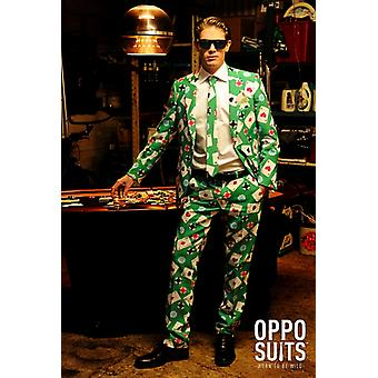 Poker Poker face costume 3 pièces premium UE tailles Casino slimline les homme
