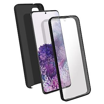 Silicone case + back cover in polycarbonate for Samsung Galaxy S20 Plus - Black