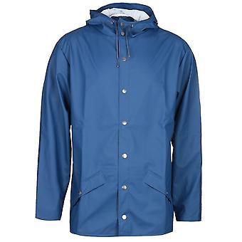 Veste à capuchon bleu Rains Klein