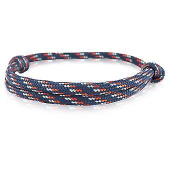 Skipper Bracciale surfista banda nodo maritimes Bracciale in nylon blu/rosso/grigio 6919