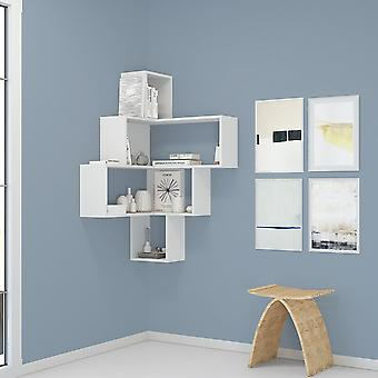Alison Color White Library in Melaminic Chip 70x70x122.5 cm
