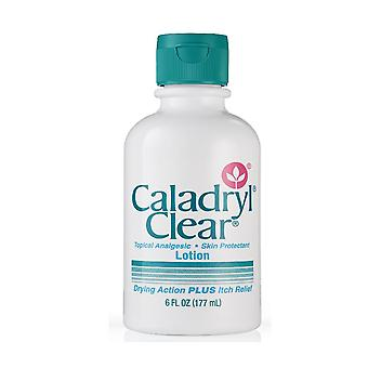 Caladryl clear topical analgesic skin protectant lotion, itch relief, 6 oz