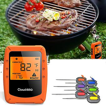 Wireless smart bbq thermometer support bluetooth for ios android