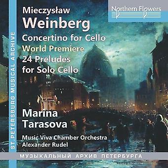 Tarasova, Marina / Rudel, Alexander / Music Viva - Weinberg Concertino for Cello & 24 Preludes Op.100 [CD] USA import