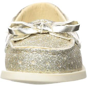 OshKosh B'Gosh Girls Georgie Glitter Boat Shoe, Gold, 9 M US Toddler