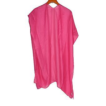 Jessica McClintock Shimmer Polyester Kimono Wrap Bright Pink Scarf