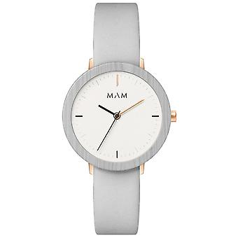 Mam Watches Ferra Watch for Japanese Quartz Analog Woman with Cowskin Bracelet 640