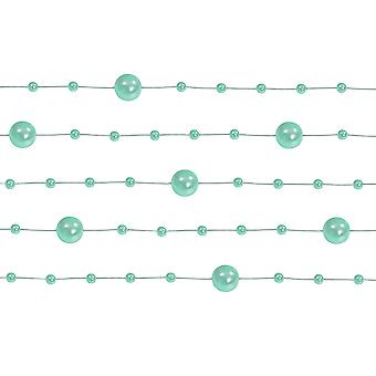 LAST FEW - 5 Mint Green 1.3m Pearl Bead Garlands for Crafts & Floristry