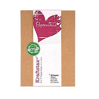 Papermania 5x7 Pollici Kraftstax (20pk) (PMA 160601)