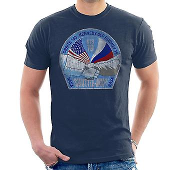 NASA STS 79 Atlantis Mission Badge Distressed Men's T-Shirt