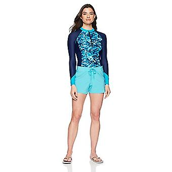 Brand - Coastal Blue Women's Swimwear Drawstring Boardshort with Side ...