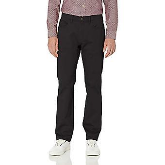 Goodthreads Men's Straight-Fit 5-Pocket Chino Pant, Zwart, 35W x 30L