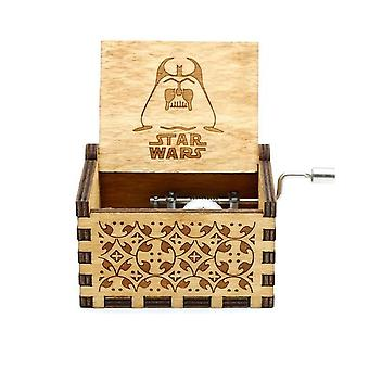 Star Wars Hand Crank Antique Sculpté Boîte musicale en bois - Collections musicales Wood Musical Decoration