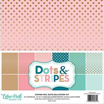 """Echo Park Double-Sided Collection Pack 12""""X12"""" 12/Pkg-Copper Foil Dots"""