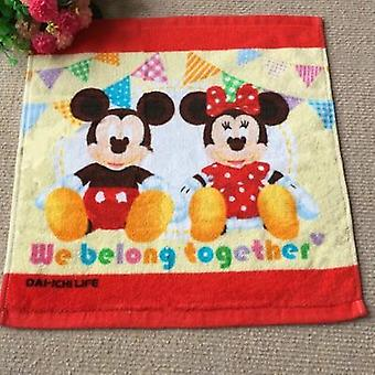 Soft Breathable Disney Cotton Handkerchief - Mickey Minnie Mouse Hanky
