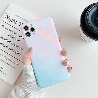 モスカドiPhone 8ケース大理石のテクスチャ - 耐衝撃光沢のあるケース花崗岩カバーキャスTPU