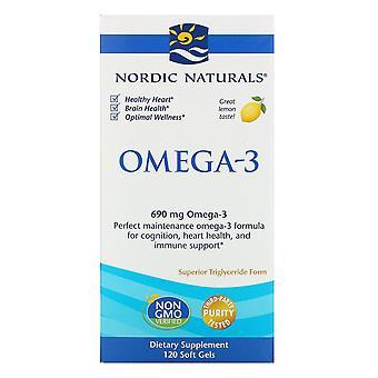 Nordic Naturals, Omega-3, Citroen, 690 mg, 120 Zachte Gels