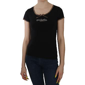 Musta Lyhythihainen Top ALUSVAATTEET T-paita -- TSH3150448