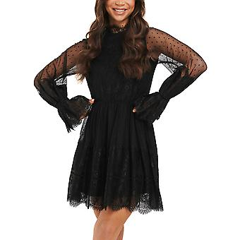 Na-Kd Women's Dress With Lace