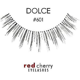 Red Cherry False Eyelashes - #601 Dolce - Perfect Curl Handmade Lashes