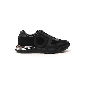 Salvatore Ferragamo 02b225717045 Mænd's Black Fabric Sneakers