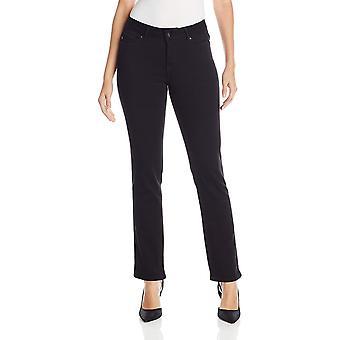 Lee Women's Modern Series Curvy Fit Miranda Straight Leg Jean, Black, 8