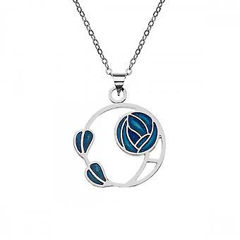 Sea Gems Mackintosh Rose & Leaf Pendant Turquoise 7684tq